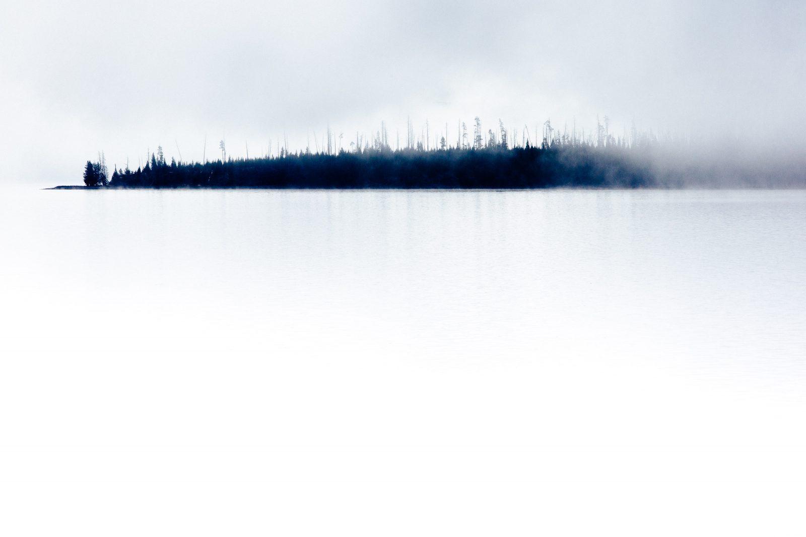 Yellowstone Lake Mist limited-edition print by Jay Goodrich