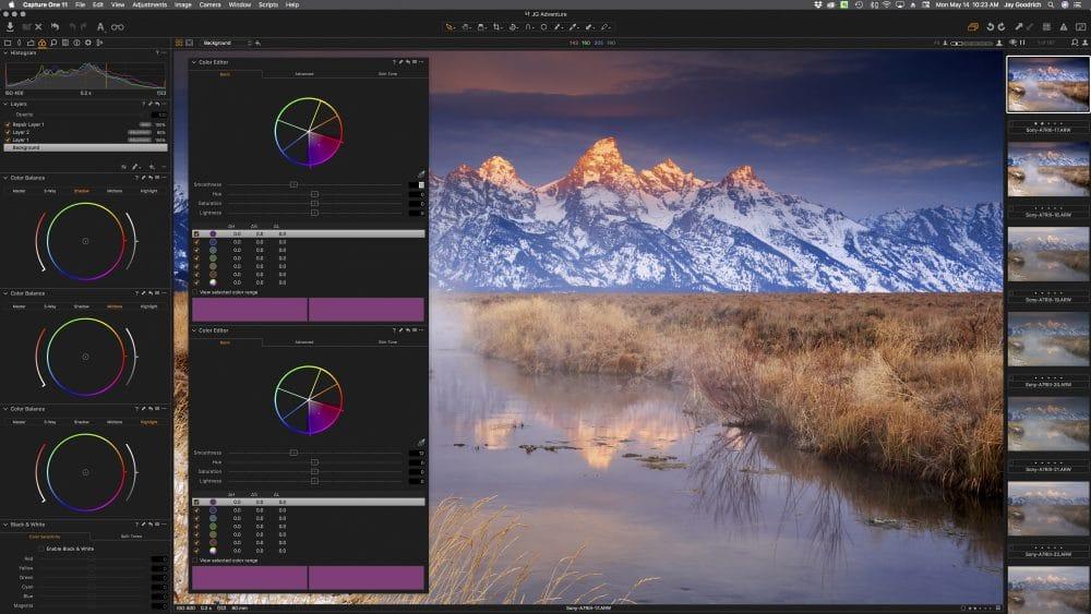 Lightroom v. Capture One Pro color adjustments © Jay Goodrich