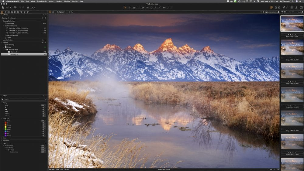 Lightroom v. Capture One Pro workspace © Jay Goodrich
