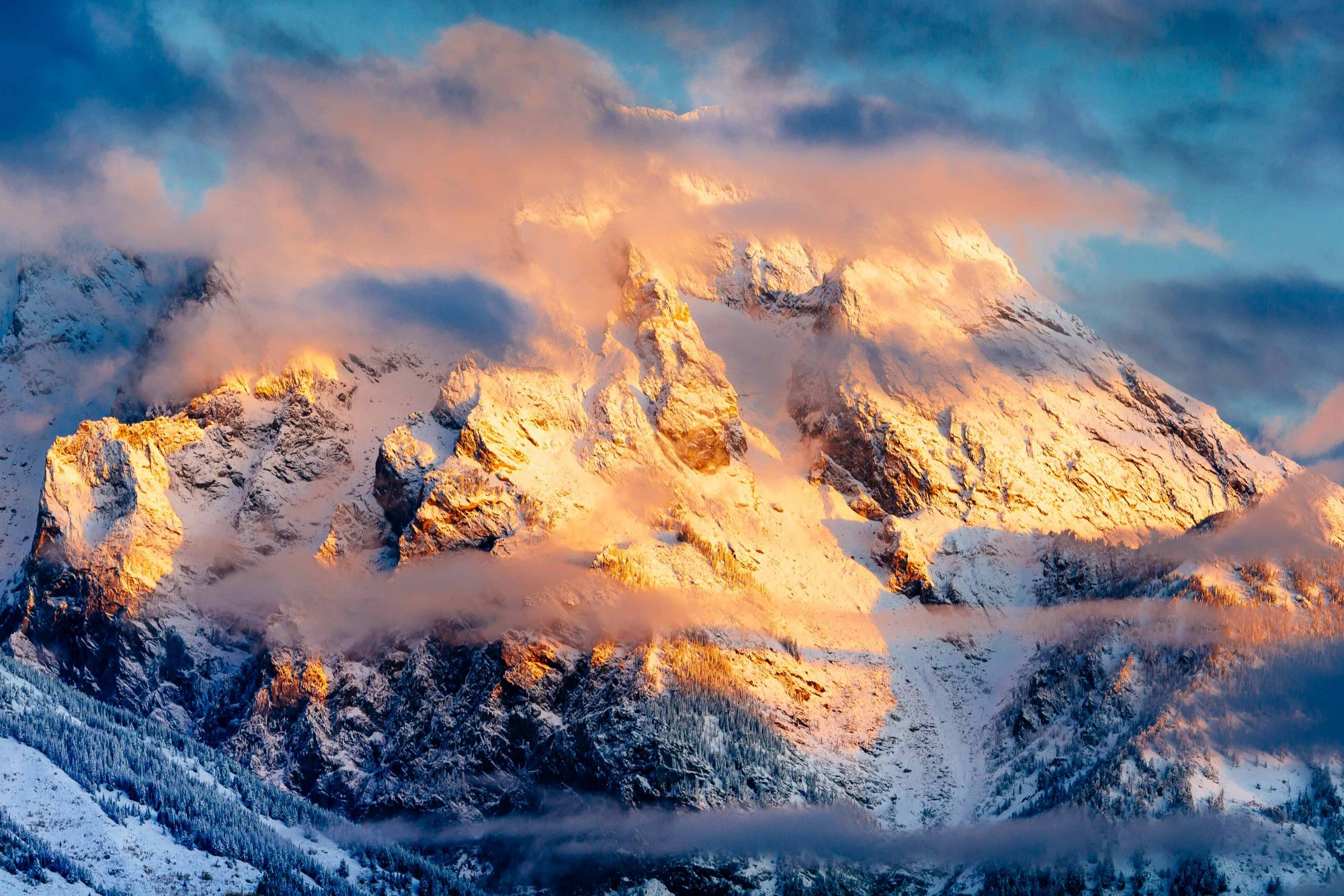 Snow Photography Article - Grand Teton © Jay Goodrich