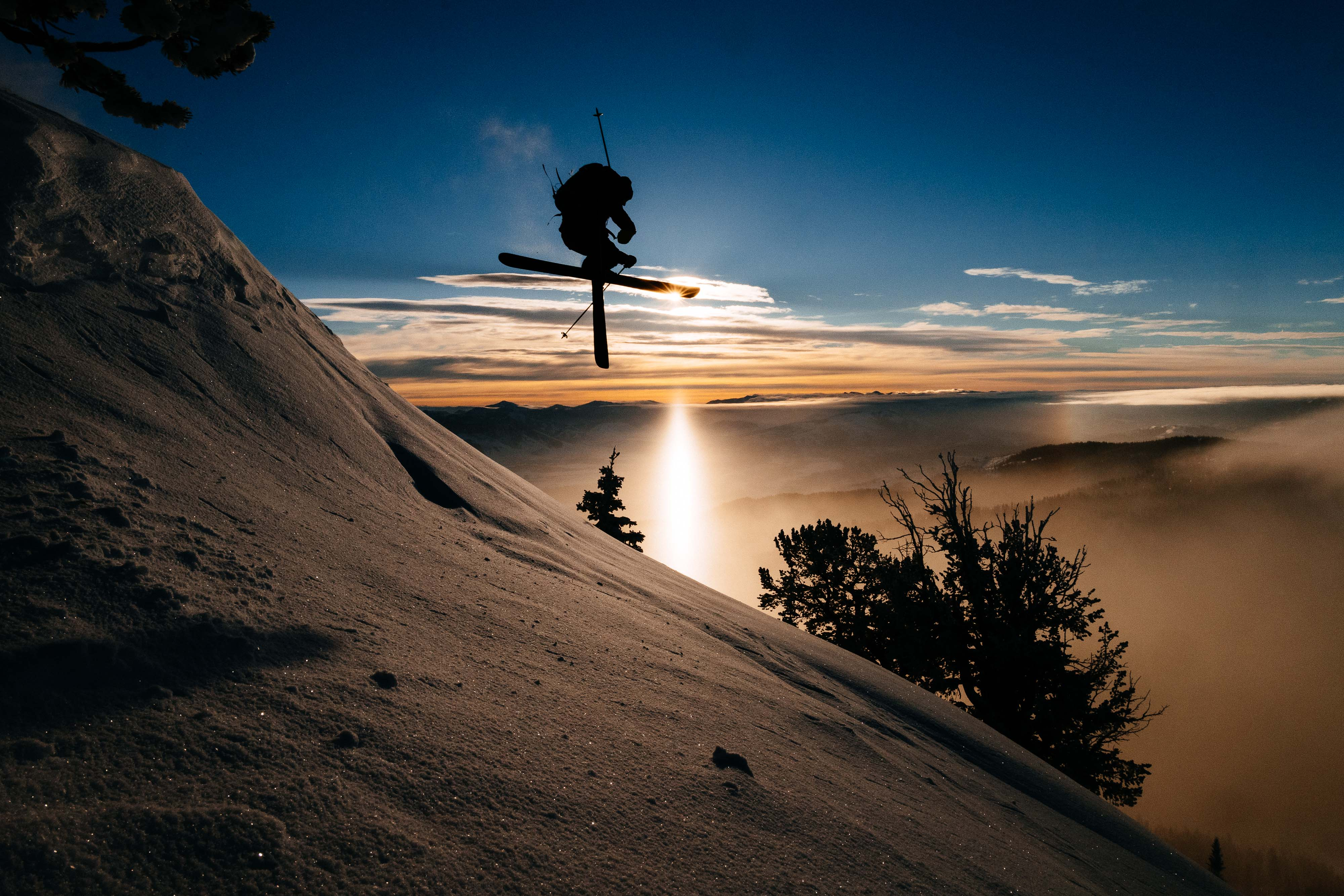 Skiing Sunrise Tetons © Jay Goodrich