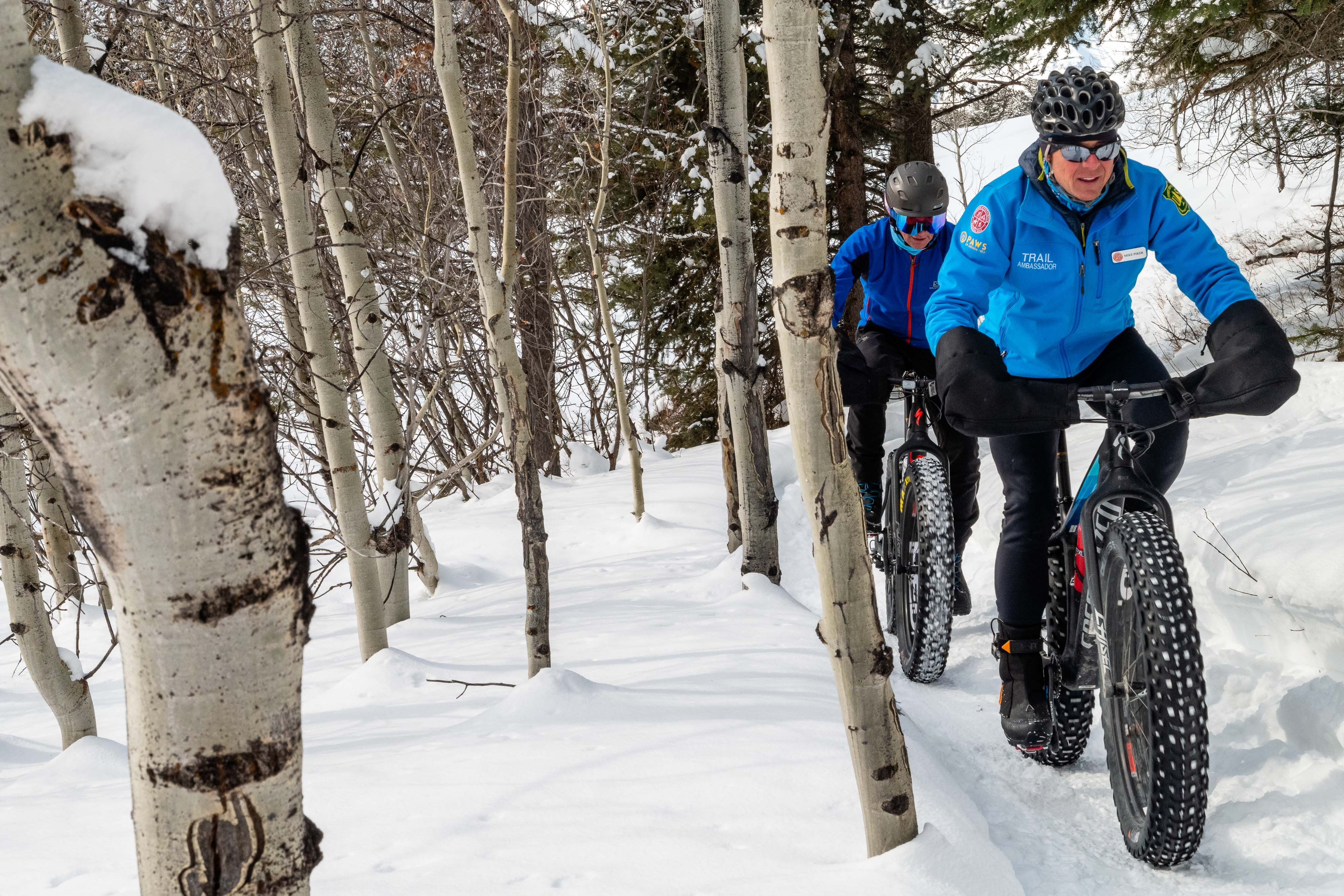 Friends of Pathways Commission - winter fat biking photo - by Jay Goodrich