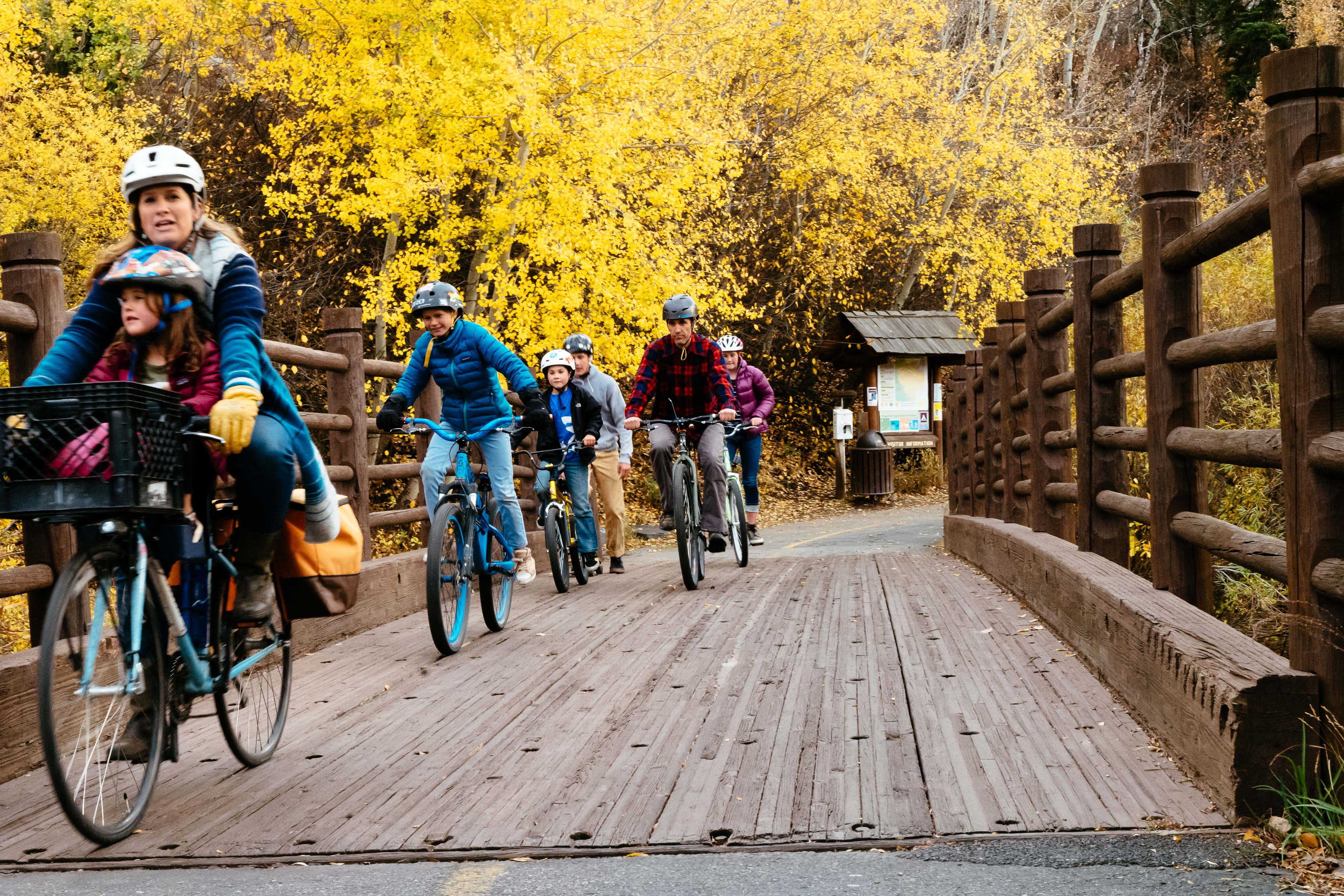 Friends of Pathways Commission - autumn bike path photo - by Jay Goodrich