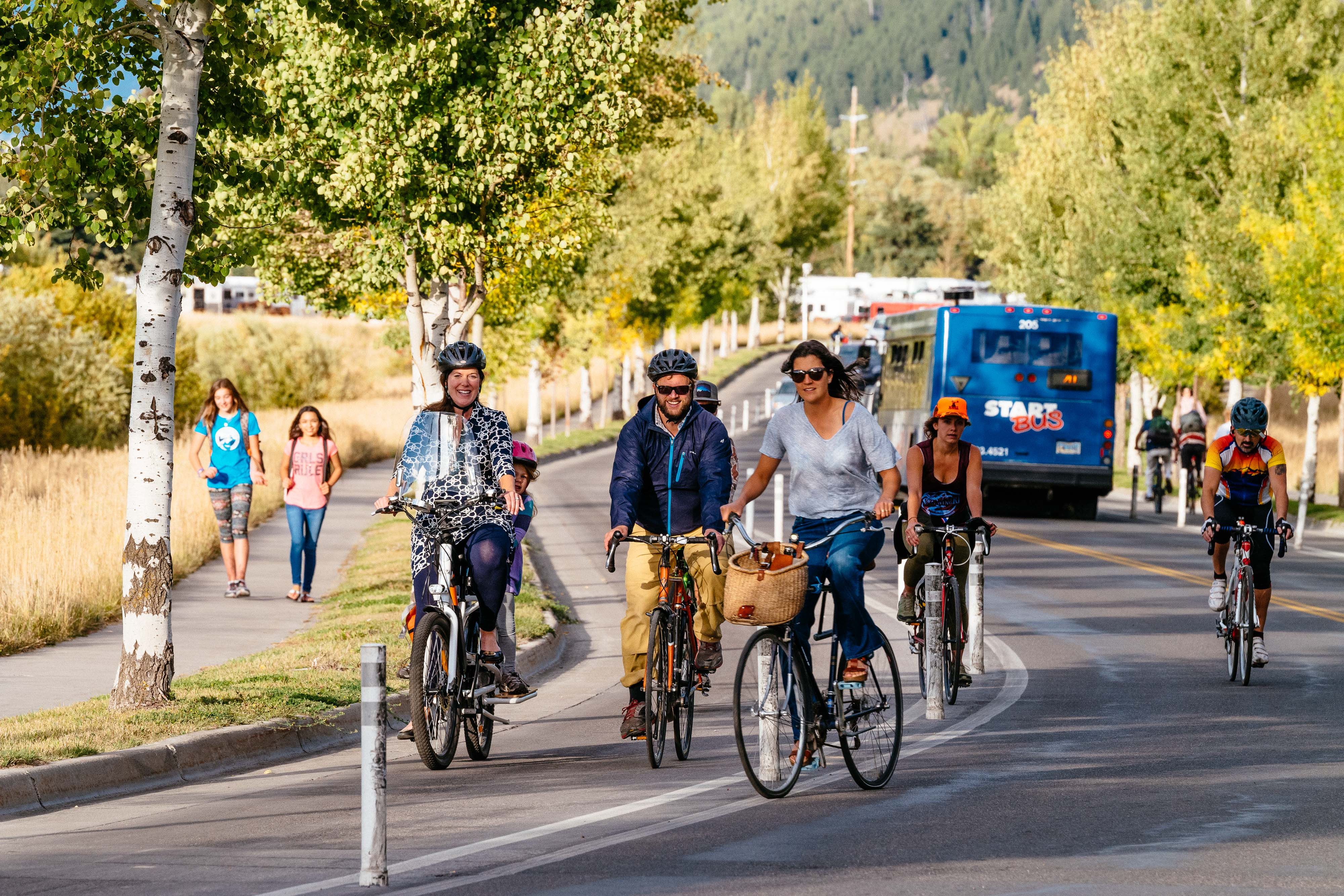Friends of Pathways Commission - bike path rush hour photo - by Jay Goodrich